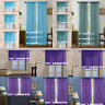 2PC HOME DECOR VOILE SHEER WINDOW DRESSING ROD POCKET CURTAIN TREATMENT PANEL