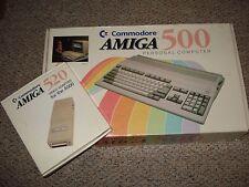 Commodore Amiga 500 in Original Box w/ Amiga 520 Video Adapter in Original Box