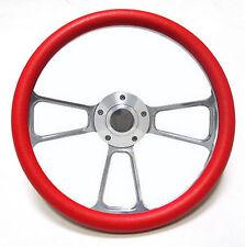 "Harley Davidson Golf Cart 14"" Red Steering Wheel Includes Horn & Adapter"