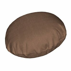 Qh20n Light Brown Linen Cotton Blend Round Cushion Cover/Pillow Case Custom Size