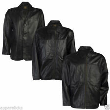Zip Leather Collared Raincoats for Men