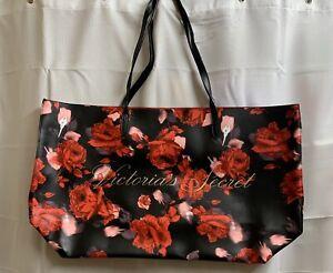 Victoria's Secret Limited Edition 2019 Large Red Floral Rose Tote Bag