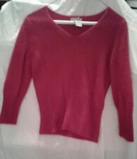 Apostrophe Womens Red Sweater Size S Petite (6-8)