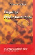 ENQUETES PSYCHOSOMATIQUES / SALOMON SELLAM /ED. QUINTESSENCE