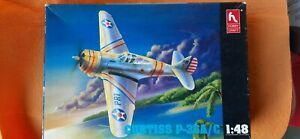 Curtiss Hawk P-36 A/C model kit in 1/48 scale by Hobby Craft