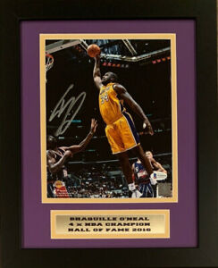 Shaquille O'Neal Autographed Los Angeles Lakers 8x10 Framed Photo Beckett COA