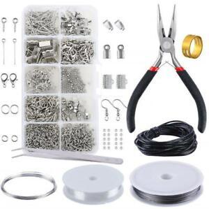DIY Jewelry Set Ear Hook Sheep Eye Nail Lobster Button Repair Tools KitZZIT