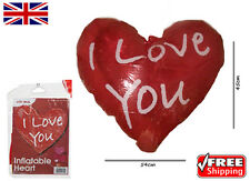 Large (45 x 54.5 cm) I Love You Inflatable Heart Great Valentines Birthday Gift!