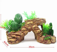 Reptile Turtoises Terrace Table Cactus Plants Artificial Aquarium Decorative Kit