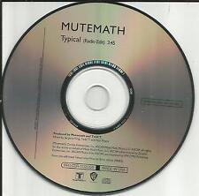 MUTEMATH Typical w/ RARE RADIO EDIT PROMO DJ CD single USA Mute math 2007 MINT