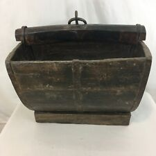 New ListingAntique Primitive Rustic Home Décor Wood Slat Well Water Dipping Bucket