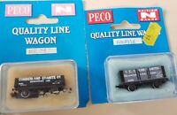 Peco Open Wagons x2, ICI Lime and Cumberland Granite (Box Not Opened) - N Gauge