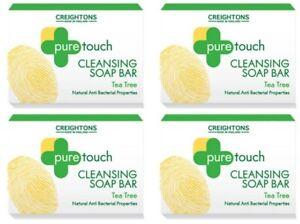 4 x 75g Tea Tree Cleansing Soap Bar Natural Antibacterial Cleansing Soap