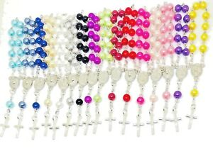Mini Decade Pearl Finger Rosary beads Christening Communion Wedding Favours baby