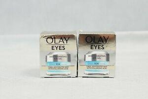 2x Olay Eyes Deep Hydrating Eye Gel With Hyaluronic Acid Size 15ml New & Sealed