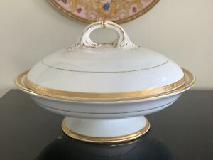 Antique Royal Worcester 1920's Footed Round Vegetable Bowl