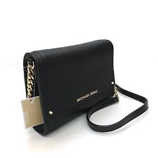 Michael Kors * Hayes Small Clutch Bag in Black Leather 35F8GYEC1L COD PayPal