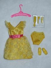 Barbie Vintage Repro Becky Yellow MOD Party Dress ~ De-Boxed ~ Free U.S Ship