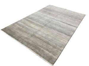 6' x 9' Handmade Transitional Wool Rug Gray M7813-7