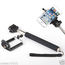 Bluetooth Shutter Extendable Handheld Selfie Stick Monopod for iPhone 6 5S 5 4S