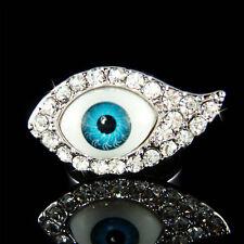 w Swarovski Crystal Jewish Judaism ~Blue Evil Eye~ Protection Ring Religious NEW