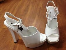 Pleasers Wedding chunky platforms. 60's style with ankle strap. SIZES 6 And 9