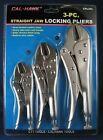 LOCKING PLIERS SET 3-pc Straight Jaw Adjustable Vise Grip NEW Chrome Steel Tool