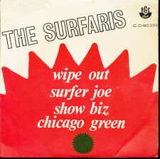 Surfaris Wipe Out + 3 Brazil Import EP With Picture Sleeve PROMO
