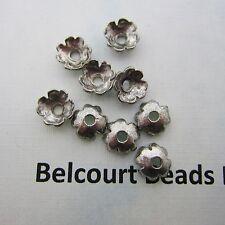 1000  Bead Caps Antique Silver Color Spacer Size:7x3mm Floral Metal Design