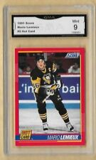 1991 SCORE HOT CARD #5 MARIO LEMIEUX GMA 10 GEM MT GRADED
