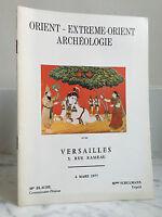 Catálogo De Venta Oriente-Lejano Arqueología 6 Mars 1977