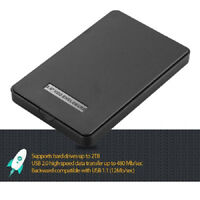 "Cute 2.5"" USB 2.0 SATA HD HDD Hard Drive External Enclosure Mobile Disk Case Box"
