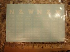 Norfolk & Western class H-9 and H L 2-bay hopper car decals, in white, O-scale