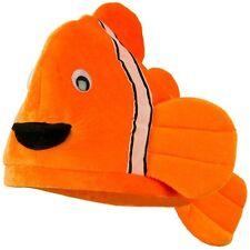 Plush Novelty Clown Fish Sea Ocean Animal Novelty Hat