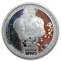 Niue - 2014- Silver $1 Proof Coin - Doctor Who - Monsters Sontarans