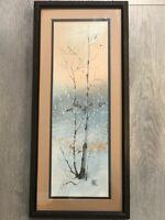 "Diane Clapp Bartz Original Watercolor Painting, Signed, Frame, 7"" x 20"" (Image)"