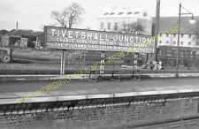 Tivetshall Railway Station Photo. Forncett to Burston and Pulham Market Line (4)