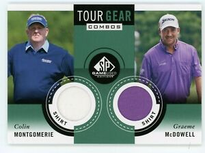 2013 SP Game Used Edition Colin Montgomerie McDowell Tour Gear Dual Relic