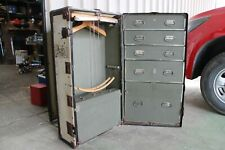 Vintage Antique Steamer Trunk Traveller Chest Of Drawers Clothes