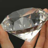 80 mm Clear Crystal Diamond Shaped Paperweight Glass Gem Display Ornament   !