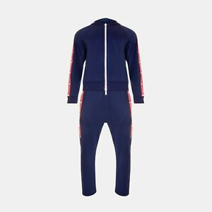 Dsquared2 Logo Band Tech Jersey Track Jacket & Track Pants In Navy Blue RRP £900