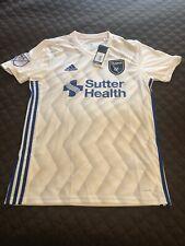 San Jose Earthquakes Jersey Adidas Climalite White MLS QUAKES MEDIUM M NWT