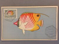 Unusual Mozambique Postal History : Maximum card Stamp 1952 : Coral Fish $10 #05