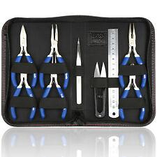 9 un. la fabricación de joyas Molduras Mini alicates herramientas kit Set Plana larga nariz redonda