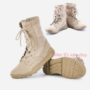 Mens Womens Army Tactical Boots Military Combat SWAT Work Desert Shoes Comfort