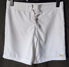 "WOMEN'S BOARDSHORTS ROXY WHITE SIZE 10/28"" LEG 9"" NEW WITHOUT TAGS FREE POSTAGE"