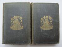 CYCLOPAEDIA OF WIT & HUMOR Amer. Irish Scott Eng ~ Wm Burton 1858 1st Ed ILLS D1