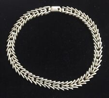Taxco Mexico Sterling Silver Large Intricate Link Chain 87.1 Grams 16 Inch TF-62