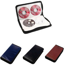 80 Disc Album CD DVD Carry Cover Leather Case Wallet Storage Holder Bag Hard Box