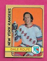 1972-73 OPC # 271 RANGERS DALE ROLFE   HIGH # EX+ CARD (INV# D1259)